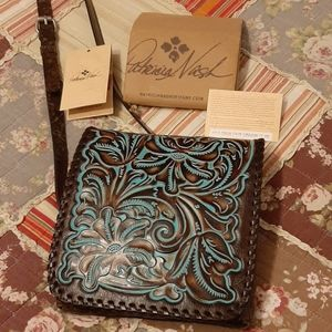 Patricia Nash tooled Granada turquoise crossbody